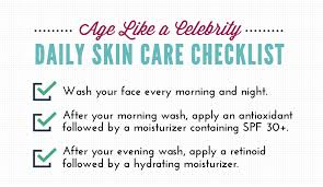 skin care routine checklist