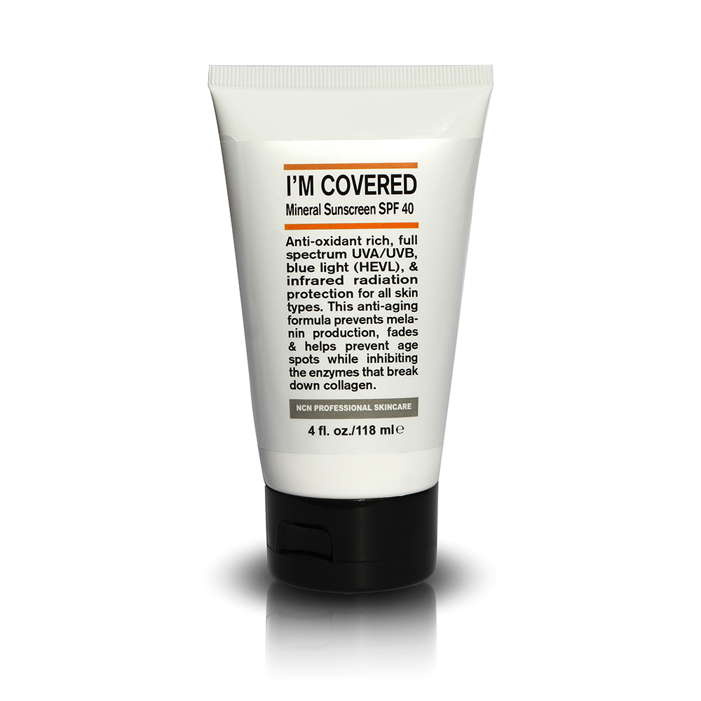 MINERAL SUNSCREEN SPF 40 I\'M COVERED - 4 OZ